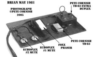 Zestaw wykonany przez Cornisha dla Briana w 1981