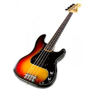 Sunburst Fender Precision - model poglądowy, cena modelu z 1973 r. od 1,8 tys. do 4 tys. dolarów.