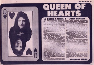 Queen of hearts John Deacon